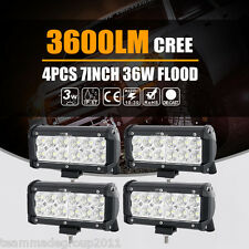 7inch 36W CREE LED Work Lights Bar Flood Offroad Driving SUV PK Osram 6inch Spot