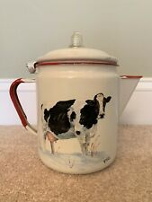 Cow Enamel Ware hand painted