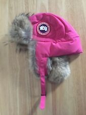 Authentic Canada Goose Pink Fur Aviator Hat L-XL Limited Edition