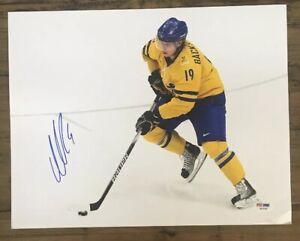 NICKLAS BACKSTROM Signed Auto 11x14 Hockey NHL Photo PSA/DNA AB18100 Capitals
