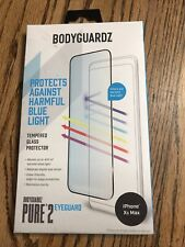 BodyGuardz Pure2 EyeGuard Glass Screen Protector for iPhone XS Max - Clear