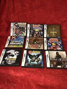 Lot of 9 Nintendo DS EMPTY CASES / MANUALS ONLY - NO GAMES