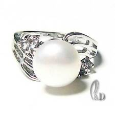 White Gold Plated Pearl Fine Jewellery