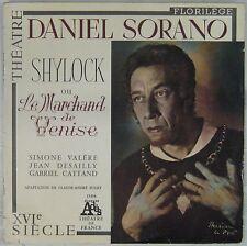 Shakespeare 33 tours Shylock ou le marchand de Venise Daniel Sorano