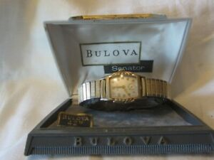 Bulova Senator L5 Mans Watch with Case runs