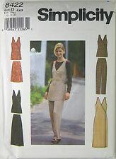 SIMPLICITY 8422 Uncut Pattern Size D 4 6 8 Misses Jumper Vest Skirt Pants New