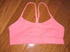 Lululemon Women's Flow Y Yoga Sports Bra Mesh Back Racerback Size 6 Coral