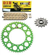 DID race chain & 13t/51t Renthal green sprocket kit Kawasaki KX450F 2006-2016