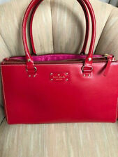 KATE SPADE XL FALLON WELLESLEY GARNET RED LEATHER BUSINESS PURSE BAG TOTE