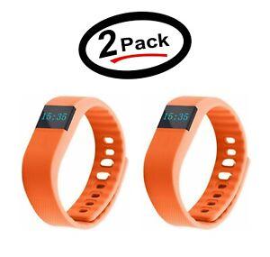 2 Pack TW64 Waterproof Bluetooth 4 Activity Tracker Sport Bracelet (Orange) -New