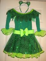 A/WISH/COME/TRUE~girl's~FROGGY/FANCY/SEQUINS/SPARKLY/3/Pc/LEOTARD! (C/M) CUTE! @