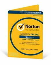 Norton by Symantec Security Deluxe for 5 Devices 1 Year #0912