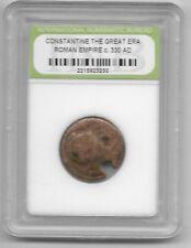 Rare Old Ancient Antique CONSTANTINE GREAT Roman Empire Era Invest War Coin Y19
