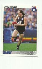 1993 AFL SELECT CARLTON BLUES CRAIG BRADLEY #162 CARD