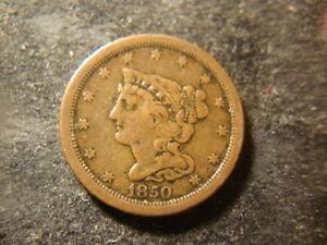 1850 VF Coronet Head Half Cent  NJX