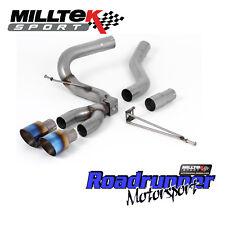 Milltek Focus ST Exhaust MK3 Diesel 2.0TDCi Cat Back Burnt Titanium Tip SSXFD204