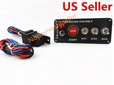 Car 5 In 1 12V Ignition Illuminate On Off Switch Engine Start Push Button Toggle