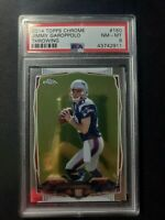 2014 Topps Chrome Throwing Jimmy Garoppolo ROOKIE RC #150 PSA 8