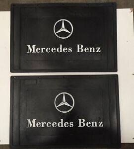 Pair of Mercedes-Benz Mudflaps - 600mm x 400mm For Trucks
