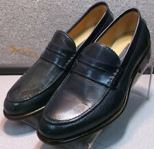241308 MDF30 Men's Shoes Size 8.5 M Navy Leather Loafers Johnston & Murphy