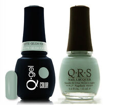 Gel & Polish QRS Beauty Combo MAT534 For Juliette Neon Green Color