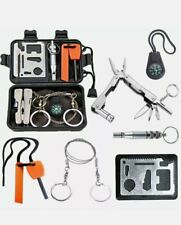 Survival kit for outdoor adventures camping hiking outdoor travelling, emergency