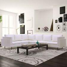 Vidaxl divano ad angolo in Pelle Artificiale bianca