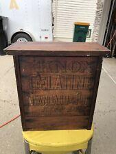 Vintage  Wood 4 Drawer Cabinet Storage Knox Gelatin Box