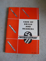 Vintage 1950 Booklet Chicago Latrobe Care of Drills and Reamers