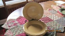 New ListingSet of 2 Longaberger Woven Traditions Butternut Bread & Butter Plates 7-1/4�