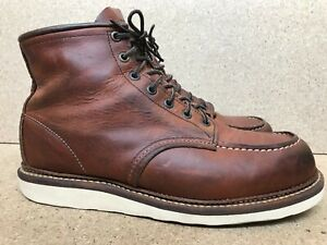 Men's Red Wing Heritage 1907 Classic Moc Toe Leather Boots Sz US 10 D | UK 9