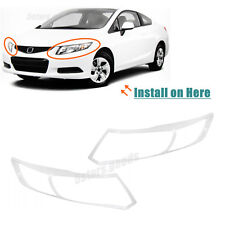 Chrome Front Headlight Eye Arround Covers Trims For 2012-2013 Honda Civic Coupe