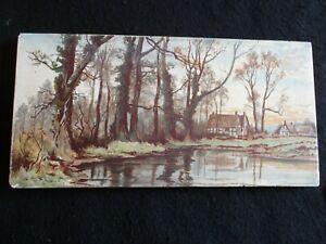"""RECLAIMED ART NOUVEAU WADE FLAXMAN COLOUR PICTURE TILE 12"""" x 6"""" c.1900's VGC"""