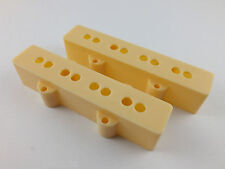 JAZZ BASS PICKUP COVERS Matched Pairs or Single in BLACK, WHITE or CREAM