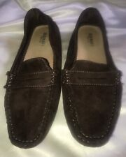 67150f82ce9 Old Navy women s Brown Textile size 7 Penny Loafers Moccasins flats Nobby  Bottom