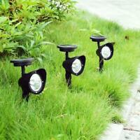 4LED Solar Power Garden-Lamp Spot Lights Outdoor Lawn Landscape Path Spotlight