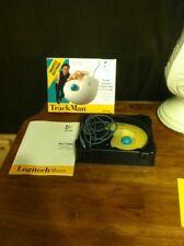 Logitech Trackman Ergonomic Mouse Track Man Mouse Model # 4095 Free Shipping
