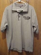 King Louie XL UAW-GM Motorsports Gray Polo Shirt Short Sleeve Cotton Very Nice