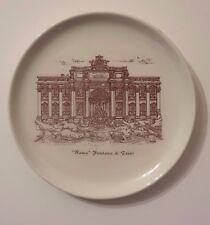 """Piatto del buon ricordo Vintage Souvenir ceramica - """"Roma""""  la Fontana di Trevi"""