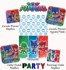 PJ Masks Hero Lunch Dessert Plate Napkin Plastic Table Cover Birthday Party Pack