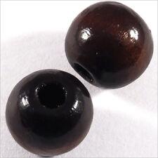 Set di 20 perline rotonde in legno 16mm Marrone scuro