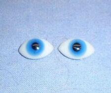 Glasaugen antik Linsenform blau 16 x 9/ eyes of glass lens shape blue 16 x 9