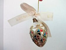 WATERFORD~Egg Shaped Christmas HOLIDAY HEIRLOOMS GLASS ORNAMENT