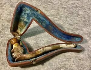 Rare Antique Meerschaum Pipe Early Pipe African American Head HEAVILY REPAIRED
