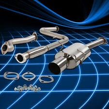"""4""""Oval Muffler Tip Stainless Catback Exhaust for 2005-2010 Chevy Cobalt 2.2 l4"""