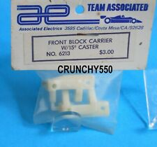Associated RC10 6213 Front Carrier Block 15 Degree Caster WHITE Vintage RC NIP
