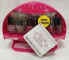 Markwins Color Workshop 7 Piece Salon Nail Station 6 Nail Polish & Dryer Kit New