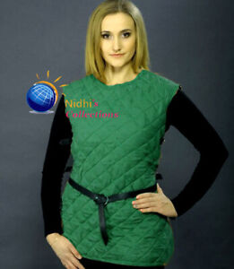 Medieval  VEST Thick padded FEMALE Aketon shirt Gambeson Costumes dress SCA LARP