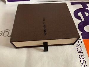 LOUIS VUITTON Empty Box Pull Drawer CASE DUST BAG WALLET book tag slide storage