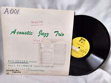 Acoustic Jazz Trio LP S/T Jewel Ron Enyard Paul Plummer Lou Lausche Private VG++